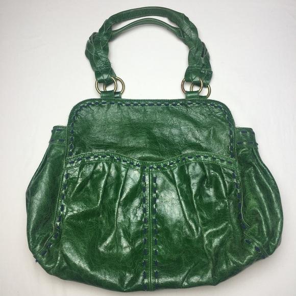 9e55e3a61cd0 Anthro {Lucky Penny} Green Vegan Leather Hobo